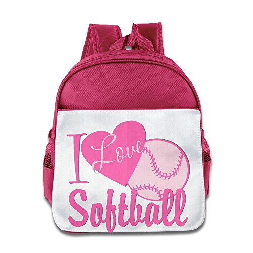 [JXMD Custom Cool Love Softball Boys And Girls Schoolbag For 1-6 Years Old Pink] (Wreck It Ralph Costume For Girls)
