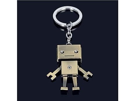 Blueqier Llavero, Realista Retro Mecánico Robot Colgante ...