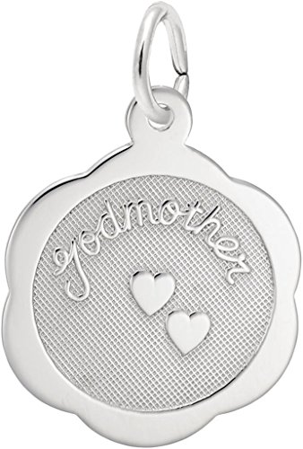 (Rembrandt Charms Sterling Silver Godmother Scalloped Disc Charm)