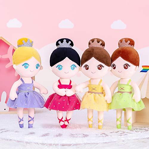 "Gloveleya Ballerina Dolls Baby Girl Gifts Soft Doll Ballet Plush Yellow 13"""
