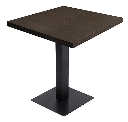GGM Muebles Gastro Bistro Mesa wengué 70 x 70 cm + mesa estructura ...