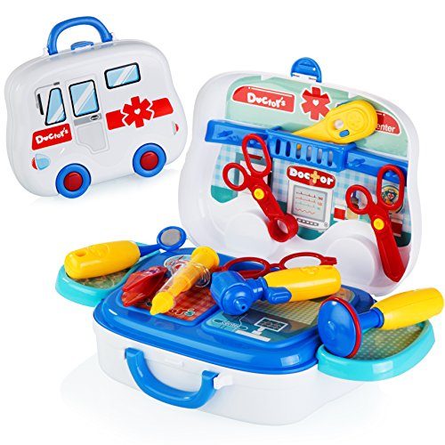 Nice Medical equipment youngsters physician toy play set for little toddler youngsters finest reward for girls and boys  Critiques