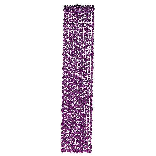 (Fun Express - Purple Football Bead Necklaces - Jewelry - Mardi Gras Beads - Mot Shaped - 12 Pieces)
