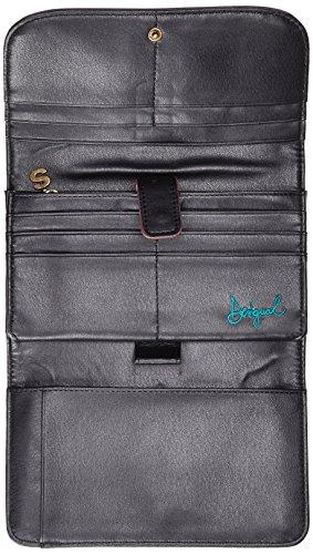 0e2a552de50 Desigual Siara Lengueta Long Wallet Negro  Amazon.es  Zapatos y complementos