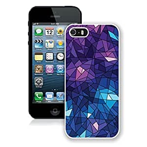Personalized Purple Geometric Ice Cube iPhone 5 5s 5th Generation Phone Case in White