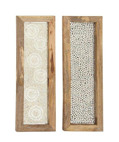 (Deco 79 24069 Wood Mosaic Wall Panel (2 Assorted), 12