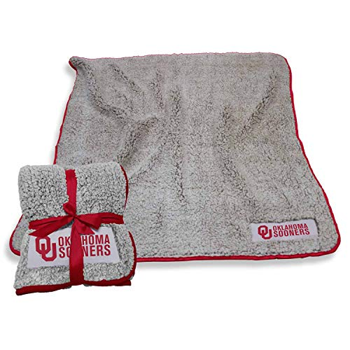 Logo Oklahoma Sooners NCAA Frosty Fleece 60 X 50 Blanket - Team Color,