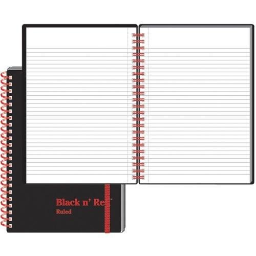 C67009 John Dickinson Black n' Red Perforated Notebook - 70 Sheets - 24 lb Basis Weight - A5 5.88
