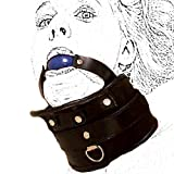Strict Adjustable Collar with Hard Ball Gag ~ Harness for Fetish Love Kinky Sex Torchering Games Sm 060 Unisex