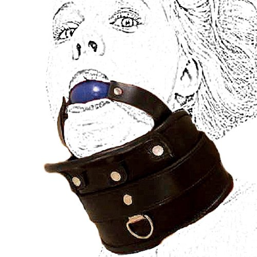 Strict Adjustable Collar with Hard Ball Gag ~ Harness for Fetish Love Kinky Sex Torchering Games Sm 060 Unisex by Imperia Industries