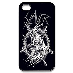 JS-5 Music Band Slayer Black Print Hard Shell Case for iPhone 4/iPhone 4S
