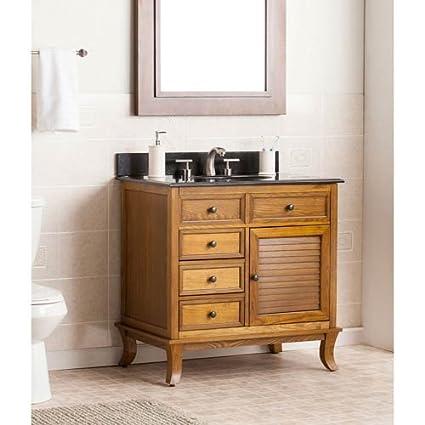Wallingford Bath Vanity In Warm Weathered Oak Finish