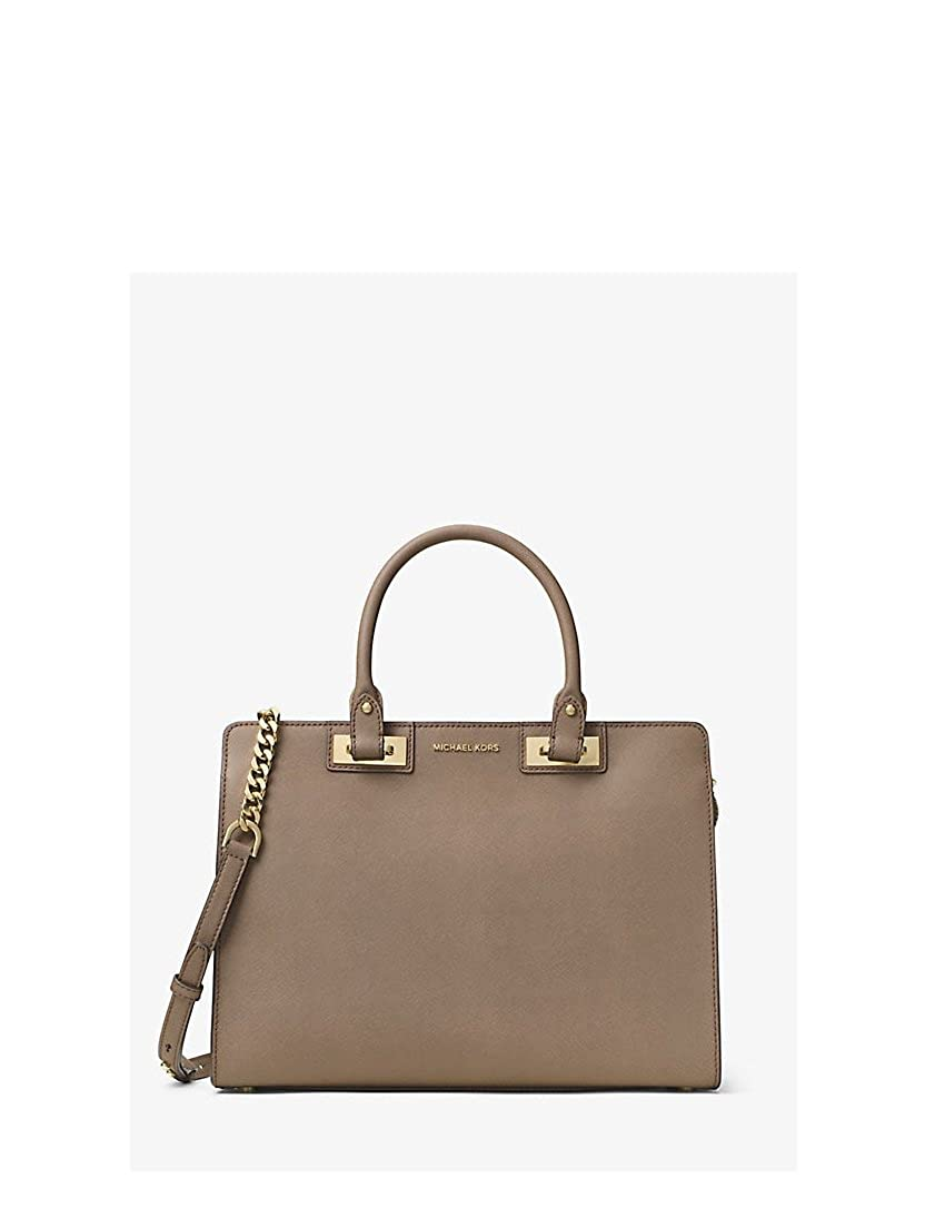 0bf6dac1a752 ... Michael Kors Quinn Large Saffiano Leather Satchel in Dark Dune  Amazon.co.uk Clothing ...