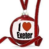 Christmas Decoration I Love Exeter region: South West England, England Ornament