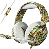 ECOOPRO Gaming Headsets PS4 Headset for Xbox One PS4 PC, Pro 50mm Driver & Stereo Surround Sound, Updated Noise Cancelling Mic Headphones for PS4, Xbox One S, PC, Nintendo Switch Mac, Laptop(Realtree)