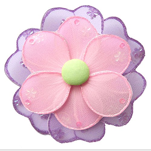 "Hanging Flower X-Large 18"" Pink Purple Green Hailey Nylon Mesh Flowers Decorations Decorate Baby Nursery Bedroom Girls Room Ceiling Wall Decor Wedding Birthday Party Baby Shower Bathroom Kids 3D Art"