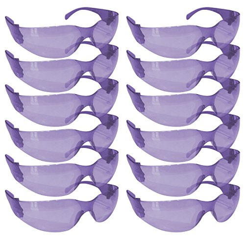 SAFE HANDLER Safety Glasses, Full Color with Polycarbonate Lens, Purple (Box of 12)