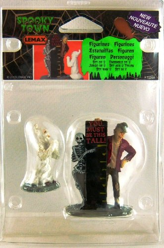 Lemax Spooky Town You Must Be This Tall, Set of 2 -
