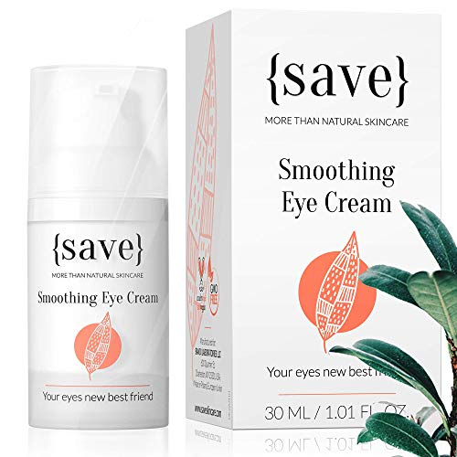 Natural Sensitive Eye Cream with Anti-Wrinkle Support, All Natural and Vegan, for Sensitive Dry Skin, Dark Circles, Bags and Puffiness 1.01 Fl. Oz.