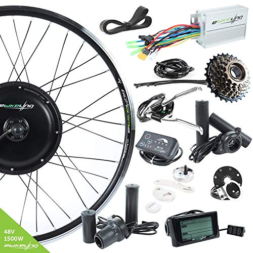 EBIKELING 48V 1500W 700C Direct Drive Rear Electric Bicycle Conversion Kit (700C/LED/Thumb)