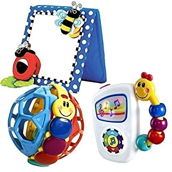 Amazon.com : Babyhaven Bundle: Baby Floor Mirror with Take Along ...