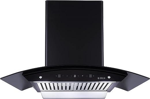 Elica 90 cm 1200 m3/hr Auto Clean Chimney (WD BF 906 HAC MS NERO, Motion Sensor Control, Black)