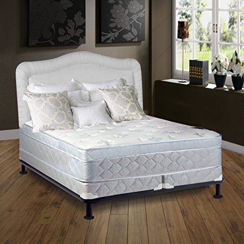 "Continental Sleep Mattress, 10"" Plush Pillowtop Eurotop, Fully Assembled Othopedic Full XL Mattress and 4-inch Split Box Spring,Luxury Collection"