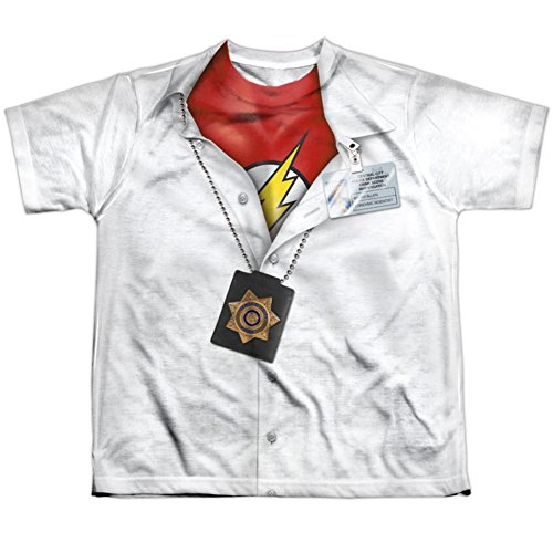 Crimson Bolt Costume (Youth: JLA- I'm Flash Kids T-Shirt Size YS)