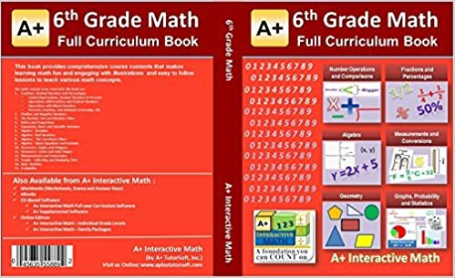 6th, Sixth Grade Math Textbook - 129 Lessons (518 Pages Printed B&W ...