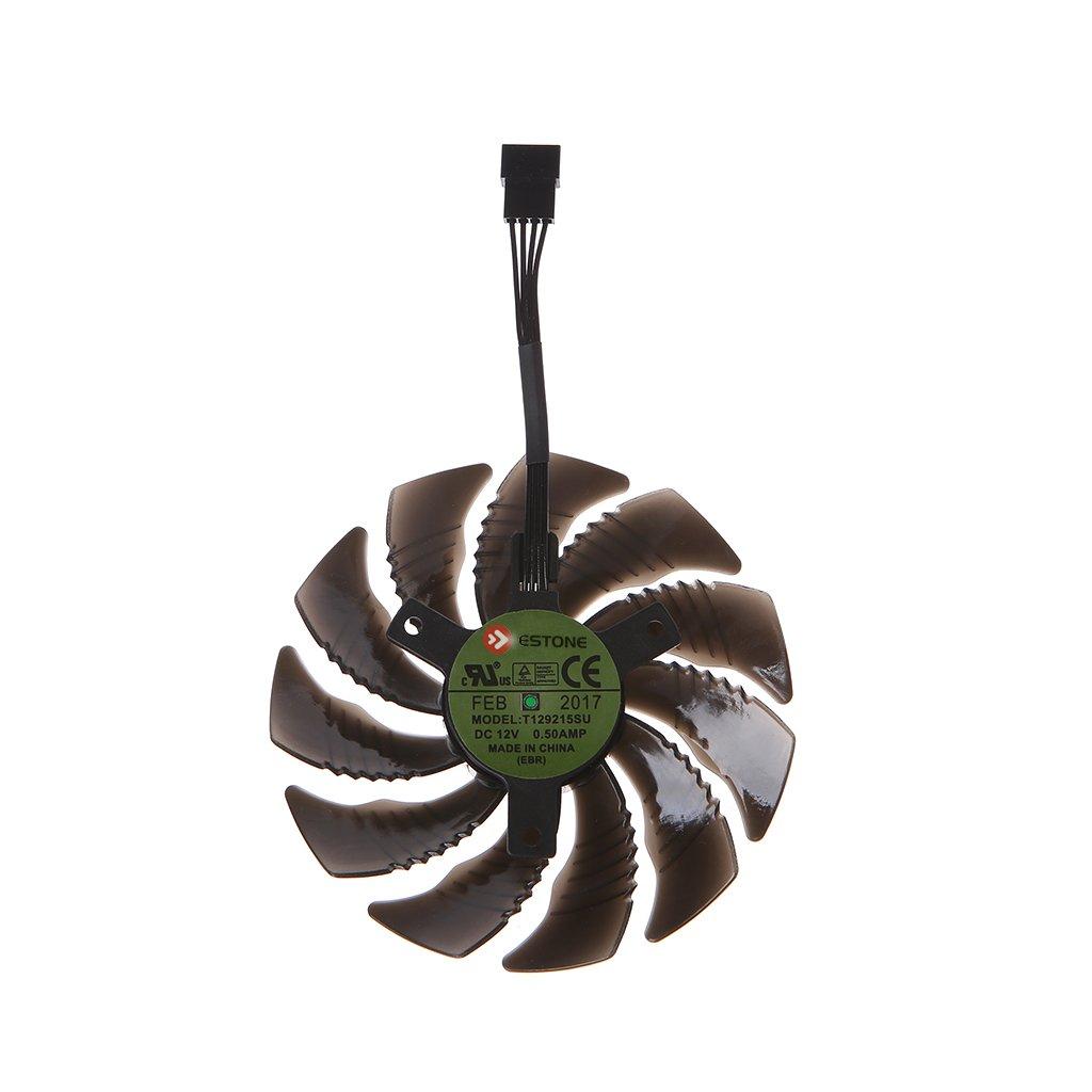 RingBuu T129215SU 88mm Graphics Card Cooling Fan For Nvidia Gigabyte GTX Aorus-Clockwise by RingBuu (Image #2)