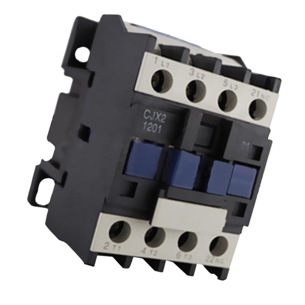 Fenteer Durable CJX2-1201 24-380V AC Coil 3-Phase 50/60Hz Motor Starter Relay Contactor - 24V