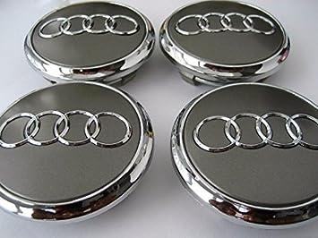 Juego de tapacubos metálicos de 77 mm para llantas de aluminio (4L0601170): Amazon.es: Coche y moto