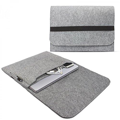 eFabrik Sleeve Cover für Asus ZenBook UX303 und ZenBook UX305 Schutzhülle ( 13,3 Zoll ) Tasche Ultrabook Laptop Case Soft Cover Notebook Schutztasche Filz hell grau
