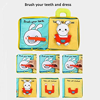 foreverwen Cloth Books for Babies, Baby First Book Early Learning Educational Toy, Crinkle Books for Infants Educational Toy, Nontoxic Fabric Materials, Baby Toys 6 to 12 Months Girls and Boys: Home & Kitchen
