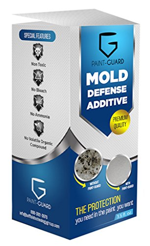 Bathroom Ceiling Paint - Paint-Guard Mold Prevention Paint Additive - Mix Into Paint to Protect Walls, Ceilings, Cabinets, and Bathrooms from Mold and Mildew Growth