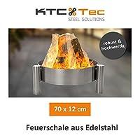 Feuerstelle silber Edelstahl klein Fire Pit ✔ rund