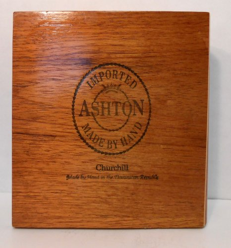 Ashton Churchill Wooden Cigar Box 8