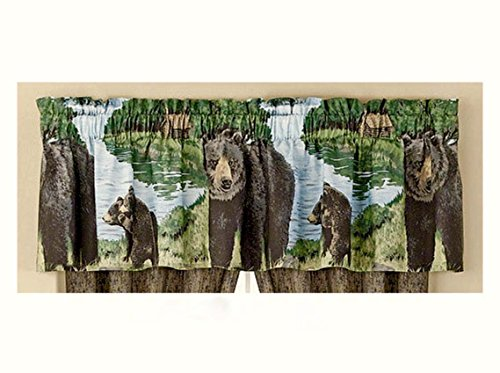 Black Bear Cabin Lodge Window Treatment VALANCE (ONLY) 18