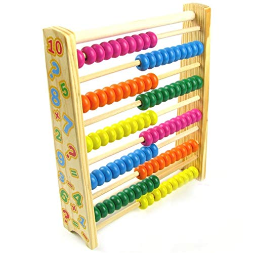 - FairOnly Wooden Toys Childhood Puzzle Early Childhood Toys Multicolored Computing Stand Vertical 10-Speed Counter 10 Files Abacus Learn Show