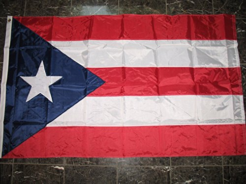 3×5 Embroidered Sewn Puerto Rico Rican Nylon Flag 3'x5′ Made in USA For Sale
