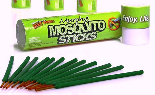 Murphy's Mosquito Sticks - All Natural Insect Repellent Incense Sticks - Bamboo (Citronella Sticks)