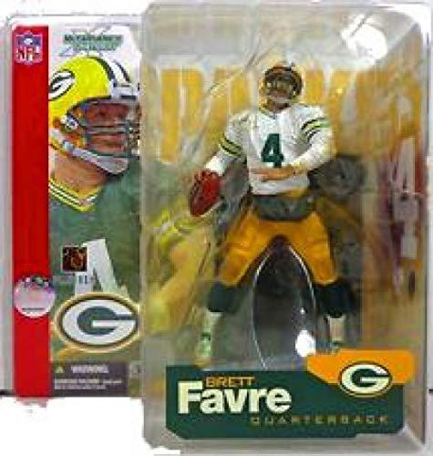 McFarlane Toys NFL Sports Picks Series 4 Action Figure Brett Favre (Green Bay Packers) White Jersey & White Sleeves Variant