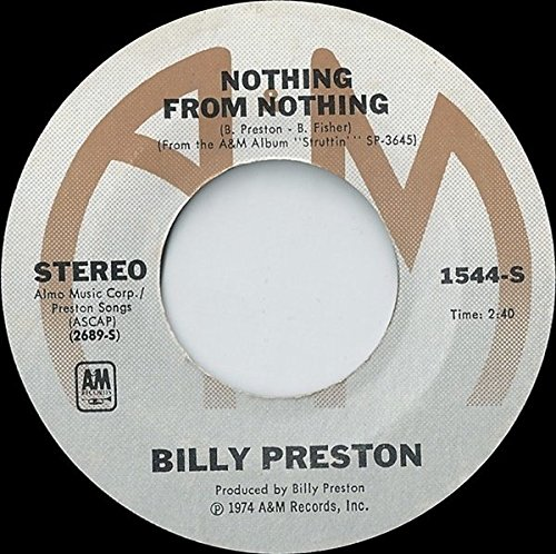 BILLY PRESTON 45 RPM Nothing From Nothing / My Soul Is A - Irving Malls In