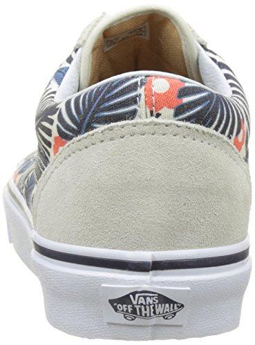 Bestelwagens Herren Ua Old Skool Sneakers Elfenbein (tropische Havana Klassiek Wit / Frans Blauw)