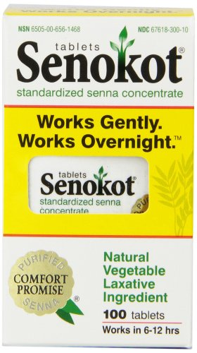 Senokot Natural Vegetable Laxative Ingredient, Tablets, 100 tablets