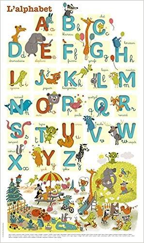 Amazon Fr J Apprends L Alphabet Poster Livres