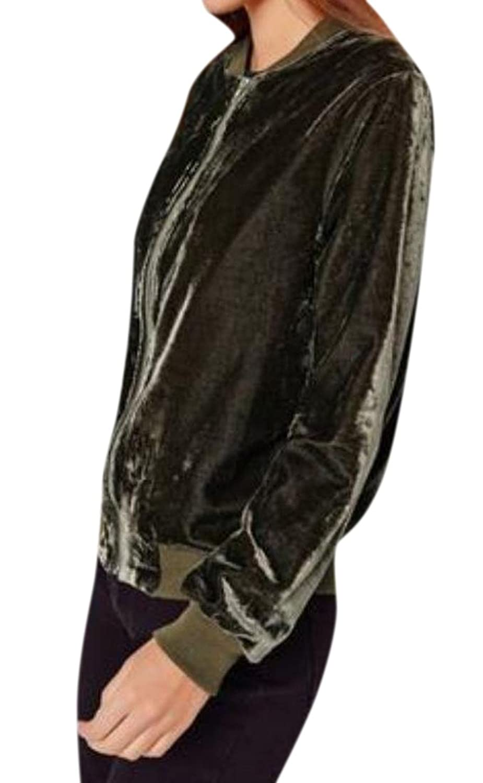 XTX Women's Long Sleeve Stylish Wild With Zips Jackets Jacket