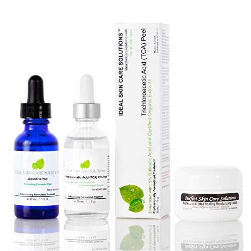 Professional 30% Pure Medical Grade Trichloroacetic Acid (TCA Peel) + Jessner's (Lactic Acid, Salicylic, Resorcinol) Chemical Peel, 30mL each, with Powerful Ultra Healing Moisturizing Lotion - PRICE INCLUDES US DOMESTIC. INTERNATIONAL SHIPPING AVAILABLE