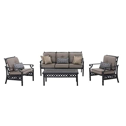 Enjoyable Amazon Com Darby Home Co 4 Piece Deep Seating Metal Sofa Pdpeps Interior Chair Design Pdpepsorg