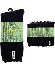UP 7 Pairs Men Mens Thick Bamboo Work Socks Heavy Duty Cushion Bulk New Size 6-11,11-13 Black Navy Grey